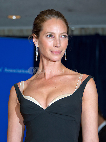 Model Christy Turlington arrives for the 2016 White House Correspondents Association Annual Dinner at the Washington Hilton Hotel on Saturday, April 30, 2016.<br /> Credit: Ron Sachs / CNP<br /> (RESTRICTION: NO New York or New Jersey Newspapers or newspapers within a 75 mile radius of New York City)/MediaPunch