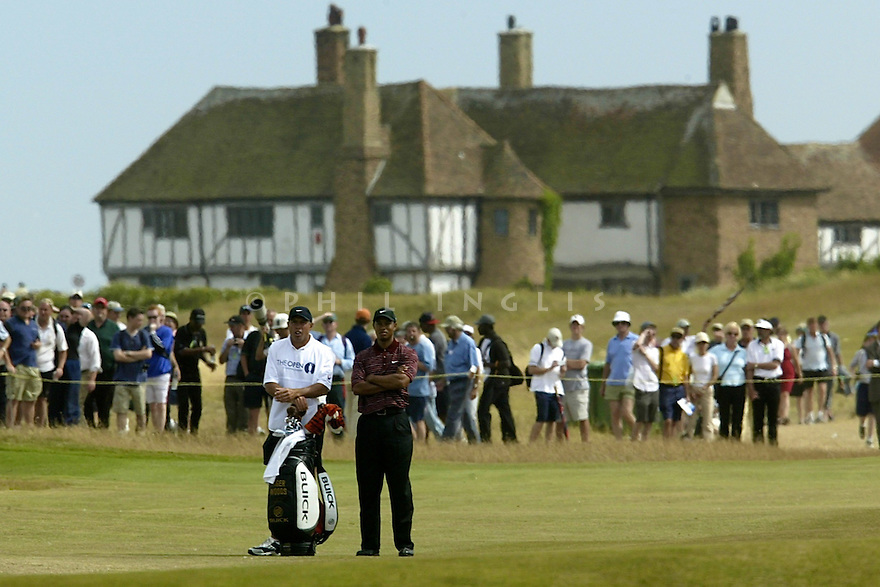 Tiger WOODS (USA) in action during the final round of the 2003 Open Championship played at Royal St. Georges Golf Club, Sandwich, Kent on 20th July 2003. Picture Credit / Phil Inglis