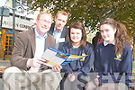 Brendan Casey CEO of Swiftqueue and Shane McAllister founder of MobaNode at the Young Entrepreneur Day at the Brandon Hotel on Friday with Tara Viseardi and Aoife Casey. Brendan Casey CEO of Swiftqueue and Shane McAllister founder of MobaNode at the Young Entrepreneur Day at the Brandon Hotel on Friday with Tara Viseardi and Aoife Casey from Pobalscoil Inbhear Sce?ine, Kenmare.