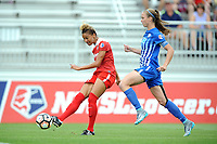 Boyds, MD - Saturday August 12, 2017: Estelle Johnson, Julie King during a regular season National Women's Soccer League (NWSL) match between the Washington Spirit and The Boston Breakers at Maureen Hendricks Field, Maryland SoccerPlex.