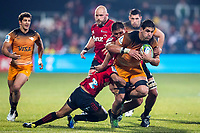 Pablo Matera in action during the 2019 Super Rugby final between the Crusaders and Jaguares at Orangetheory Stadium in Christchurch, New Zealand on Saturday, 6 July 2019. Photo: lintottphoto.co.nz