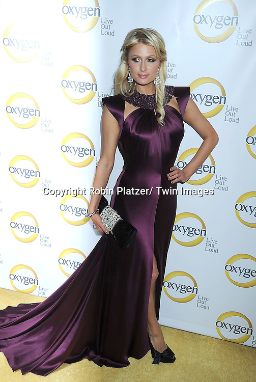 Paris Hilton attending the Oxygen Upfront on April 4, 2011 at Gotham Hall in New York City.