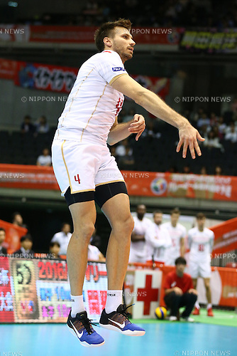 Antonin Rouzier (FRA),<br /> MAY 29, 2016 - Volleyball :<br /> Men's Volleyball World Final Qualification for the Rio de Janeiro Olympics 2016<br /> match between France 2-3 Poland<br /> at Tokyo Metropolitan Gymnasium, Tokyo, Japan.<br /> (Photo by Shingo Ito/AFLO SPORT)
