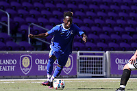 Orlando, Florida - Wednesday January 17, 2018: Edward Opoku. Match Day 3 of the 2018 adidas MLS Player Combine was held Orlando City Stadium.