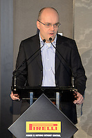 MELBOURNE, 15 March - Pirelli Asia Pacific CEO Gregorio Borgo at the Pirelli Media Briefing at the Rialto Building, 525 Collins Street ahead of the the 2012 Formula One Australian Grand Prix at the Albert Park Circuit in Melbourne, Australia. (Photo Sydney Low / syd-low.com)