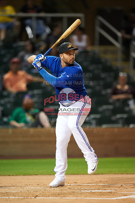 Mesa Solar Sox Ryan McBroom (9), of the Toronto Blue Jays organization, during the Bowman Hitting Challenge on October 8, 2016 at the Salt River Fields at Talking Stick in Scottsdale, Arizona.  (Mike Janes/Four Seam Images)