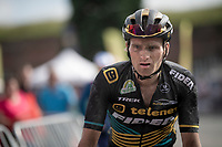 Jim Aernouts' (BEL/Telenet-Fidea Lions) post-race face<br /> <br /> Dwars door het Hageland 2019 (1.1)<br /> 1 day race from Aarschot to Diest (BEL/204km)<br /> <br /> ©kramon