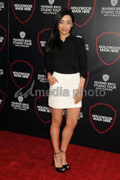 14 July 2015 - Burbank, California - Aimee Garcia. Warner Bros. Studio Tour Stage 48: Script to Screen Launch Event held at Warner Bros. Studios. Photo Credit: Byron Purvis/AdMedia