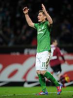 FUSSBALL   1. BUNDESLIGA   SAISON 2011/2012   23. SPIELTAG SV Werder Bremen - 1. FC Nuernberg                   25.02.2012 Markus Rosenberg (SV Werder Bremen)
