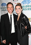 Paul Canaan &  Annaleigh Ashford attending the Broadway Dreams Foundation's 'Champagne & Caroling Gala' at Celsius at Bryant Park, New York on December 10, 2012