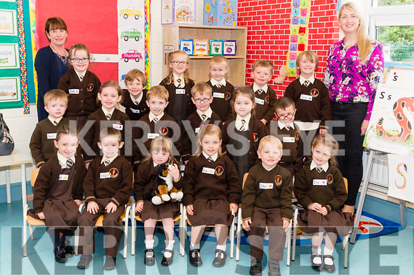 Pupils attending their first day school at Lissivigeen National School, on Thursday morning last front l-r: Esme O'Sullivan, Ethan Gabbett, Ciara O'Sullivan, Rose Lenin, Peter Clifford and Zoe O'Neill. Middle row l-r: Ryan Cronin, Ella Crowley, Jack Rice, Leo Noonam, Amelia Darcy, and Dylan Flynn. Back l-r: Noreen, O'Shea, Sinead Herlihy, Dan Denny O'Sullivan, Elle Fleury, Oran Bartlett, Gavin, Fitzgerald, Tori Lyne and Margaret Daly.