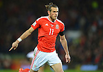Gareth Bale of Wales celebrates scoring the opening goal of the gameduring the FIFA World Cup Qualifying match at the Cardiff City Stadium, Cardiff. Picture date: November 12th, 2016. Pic Robin Parker/Sportimage