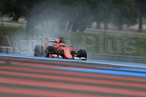 25.01.2016. Paul Ricard Circuit, Le Castellet, Marseille, France. F1 Tyre testing for teams with Pirelli.  Ferrari SF15-T – Kimi Raikkonen