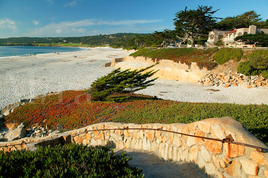 The beach and bay at Carmel By The Sea, California