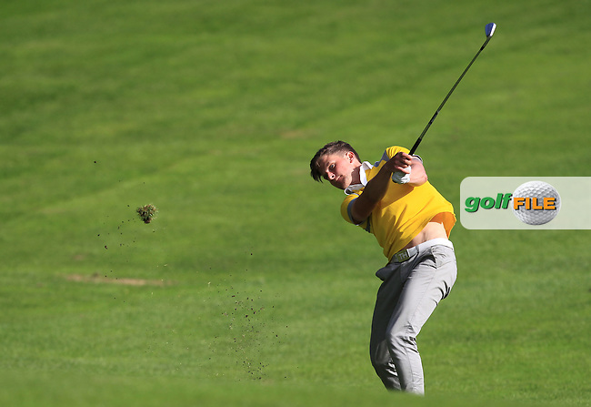 Nils Conway (Grange) on the 18th during Round 4 of the 2016 Connacht Strokeplay Championship at Athlone Golf Club on Sunday 12th June 2016.<br /> Picture:  Golffile | Thos Caffrey