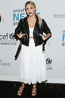 HOLLYWOOD, LOS ANGELES, CA, USA - OCTOBER 30: Cassie Scerbo arrives at UNICEF's Next Generation's 2nd Annual UNICEF Masquerade Ball held at the Masonic Lodge at the Hollywood Forever Cemetery on October 30, 2014 in Hollywood, Los Angeles, California, United States. (Photo by Rudy Torres/Celebrity Monitor)