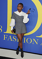 BROOKLYN, NY - JUNE 4: Cynthia Erivo at the 2018 CFDA Fashion Awards at the Brooklyn Museum in New York City on June 4, 2018. <br /> CAP/MPI/JP<br /> &copy;JP/MPI/Capital Pictures