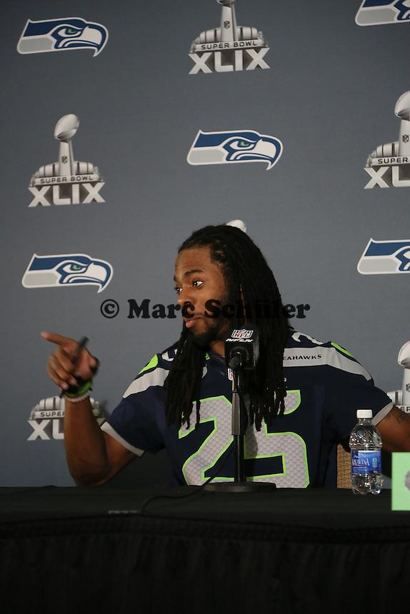CB Richard Sherman (Seahawks)- Super Bowl XLIX Seattle Seahakws Team-PK, Arizona Grand Hotel