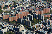 aerial photograph apartment buildings Bronx, New York City