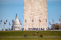 United States Capitol Building Washington Monument Washington DC