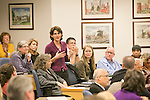 Duke's  Academic Council discusses faculty diversity, a topic they expect will lead to a new diversity policy to guide the university for the next decade as its international presence grows, during their meeting in the Westbrook Building, Thurs. Jan. 16, 2014.