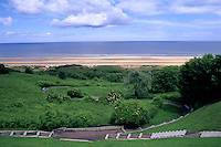 location of landings on Omaha Beach in World War II  Normandy France