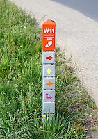 Nederland Dalfsen 2015 08 15. Wandelnetwerk Vechtdal paaltje in Dalfsen
