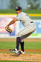 West Michigan Whitecaps starting pitcher Edgar De La Rosa (35) in action against the Great Lakes Loons at the Dow Diamond on June 11, 2013 in Midland, Michigan.  The Loons defeated the Whitecaps 13-6.  (Brian Westerholt/Four Seam Images)