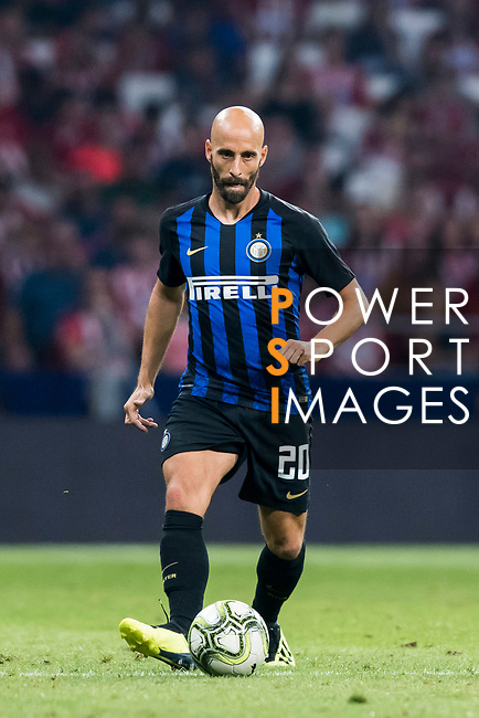 Borja Valero of FC Internazionale in action during their International Champions Cup Europe 2018 match between Atletico de Madrid and FC Internazionale at Wanda Metropolitano on 11 August 2018, in Madrid, Spain. Photo by Diego Souto / Power Sport Images
