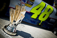 The 2009 Sprint Cup with Jimmie Johnson's (#48) car.