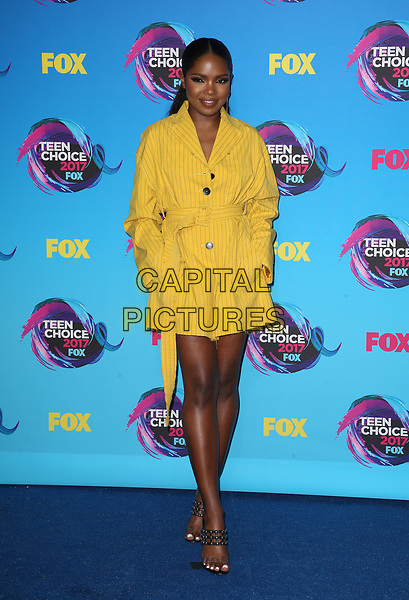 LOS ANGELES, CA - AUGUST 13: Ryan Destiny, at the Teen Choice Awards 2017- Press Room at Galen Center on August 13, 2017 in Los Angeles, California. <br /> CAP/MPI/FS<br /> &copy;FS/MPI/Capital Pictures