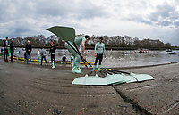 Putney, London,  Tideway Week, Championship Course. River Thames, CUBC,Blue Boat and Goldie. Boating from Putney Hard [Foreshore].<br /> <br /> {DOW{  {DATE}<br /> <br /> [Mandatory Credit; Credit: Peter SPURRIER/Intersport Images.com ]