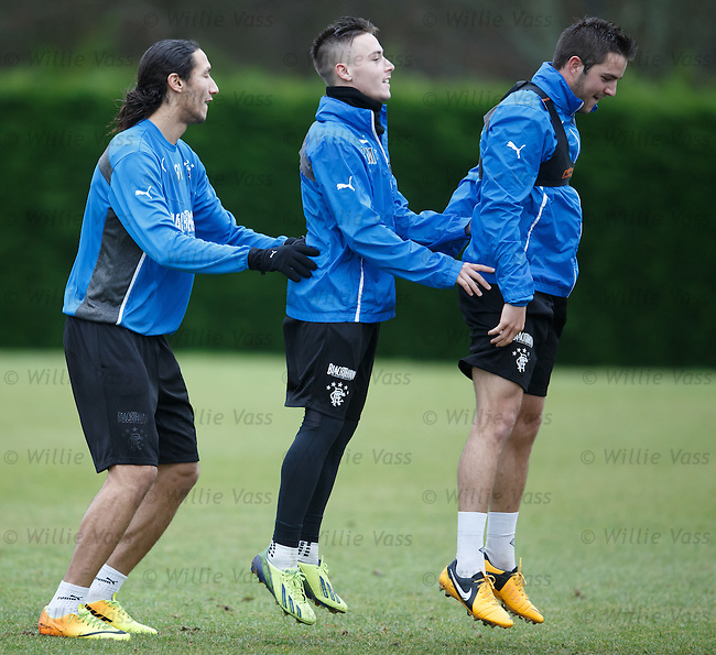 Bilel Mohsni, Barrie McKay and Andy Little