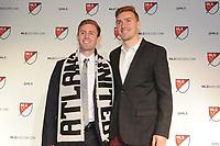 Philadelphia, PA - Thursday January 19, 2018:Jon Gallagher, Julian Gressel  during the 2018 MLS SuperDraft at the Pennsylvania Convention Center.