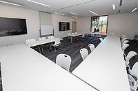 Occidental College's newly remodeled Department of Athletics offices on March 13, 2019.<br /> (Photo by Marc Campos, Occidental College Photographer)