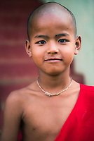 Portrait of a young monk, Pindaya, Shan State, Myanmar (Burma)
