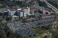 aerial photograph of the  San Diego VA Medical Center, La Jolla California during a busy day