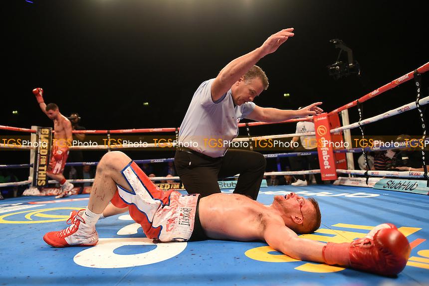 Martin Gethin defeats John Wayne Hibbert during a Boxing Show at the SSE Arena, Wembley on 26th November 2016