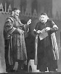 """Krauss, Werner *23.06.1884-20.10.1959+<br /> Schauspieler, D<br /> <br /> - (r.) als 'Shylock' mit Ferdinand Maierhofer<br /> als 'Tubal' in dem Stueck 'Der Kaufmann von Venedig',<br /> (William Skakespeare), Burgtheater Wien,<br /> Regie : Lothar Muethel<br /> <br /> - 1943<br /> <br /> Foto: Bruno Voelkel<br /> <br /> veroeffentlicht: """"Das Reich"""" 22/1943<br /> <br /> - 01.01.1943-31.12.1943<br /> <br /> Krauss, Werner *23.06.1884-20.10.1959+<br /> Actor, Germany<br /> <br /> with Ferdinand Maierhofer (on the left) in the stage play """"Der Kaufmann von Venedig"""" (W. Shakespeare)<br /> Burgtheater Wien<br /> - 1943<br /> <br /> - 01.01.1943-31.12.1943"""