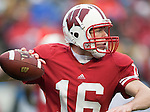 Wisconsin Badgers quarterback Scott Tolzien (16) throws a pass during an NCAA college football game against the Indiana Hoosiers on November 13, 2010 at Camp Randall Stadium in Madison, Wisconsin. The Badgers won 83-20. (Photo by David Stluka)