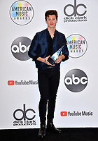 LOS ANGELES, CA. October 09, 2018: Shawn Mendes at the 2018 American Music Awards at the Microsoft Theatre LA Live.<br /> Picture: Paul Smith/Featureflash