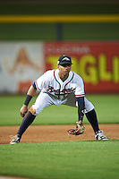 Peoria Javelinas third baseman Johan Camargo (1) during an Arizona Fall League game against the Glendale Desert Dogs on October 19, 2015 at Peoria Stadium in Peoria, Arizona.  Glendale defeated Peoria 4-2.  (Mike Janes/Four Seam Images)