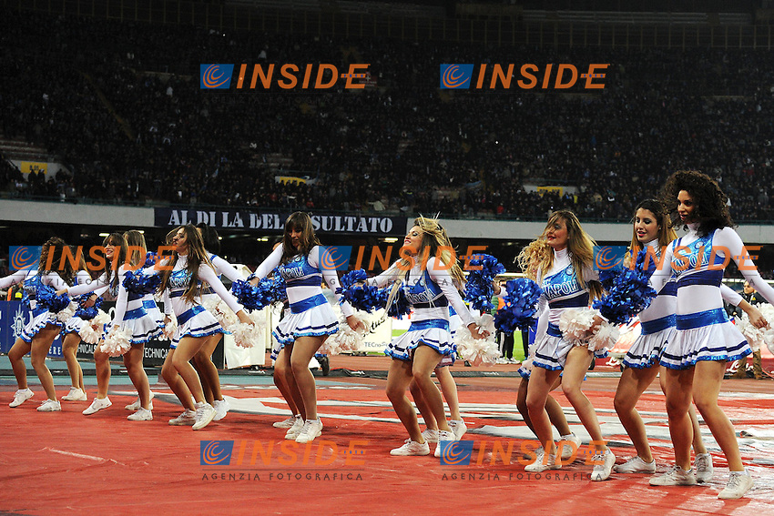 Napoli's cheerleaders <br /> Napoli 08-02-2014 Stadio San Paolo - Football Calcio Serie A 2013/2014 Napoli - Milan Foto Andrea Staccioli / Insidefoto