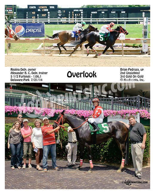 Overlook winning at Delaware Park on 7/21/14