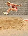 Hillen Von Maltzah came in second with a jump of 8.36 meters at the 2007 Senior Olympics. Moments before, Von Maltzah won her 400-meter prelim in 1:12.50.