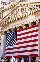 USA, New York, New York City. New York Stock Exchange (NYSE) on Wall Street