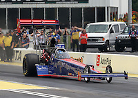 May 10, 2013; Commerce, GA, USA: NHRA top fuel dragster driver Keith Murt during qualifying for the Southern Nationals at Atlanta Dragway. Mandatory Credit: Mark J. Rebilas-