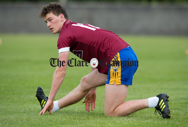 Bobby Duggan at training in Clareabbey. Photograph by John kelly.
