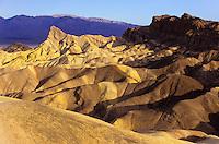Yellow folded strata at Zabriskie Point .Death Valley, California, USA