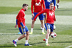 Spain's Jordi Alba (l) and Gerard Deulofeu during training session. March 21,2017.(ALTERPHOTOS/Acero)